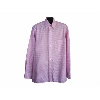 Рубашка розовая в клетку мужская SLIM LINE OLYMP, L