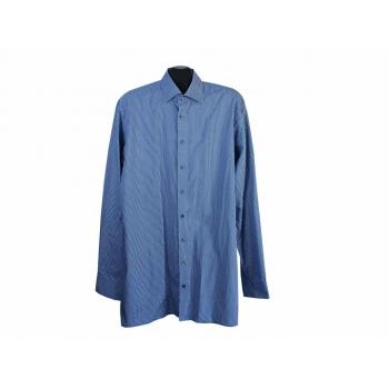 Рубашка синяя с принтом мужская OLYMP LUXOR, XL