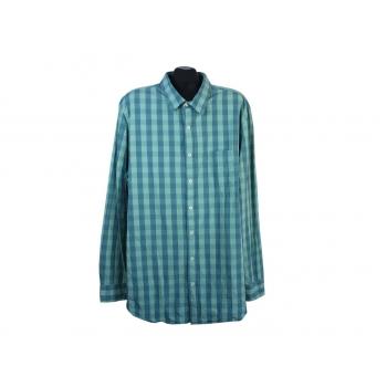 Рубашка зеленая в клетку мужская EASY PREMIUM VINTAGE, XL