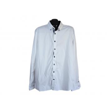 Рубашка белая однотонная мужская SLIM FIT PURE, XL