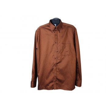 Рубашка мужская коричневая MODERN FIT ETERNA, L