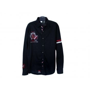 Рубашка черная мужская REGULAR FIT CAMP DAVID, XXL