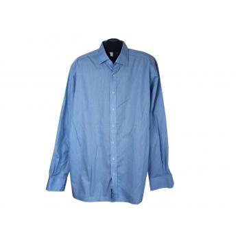 Рубашка однотонная голубая мужская MODERN FIT ETERNA, XXL
