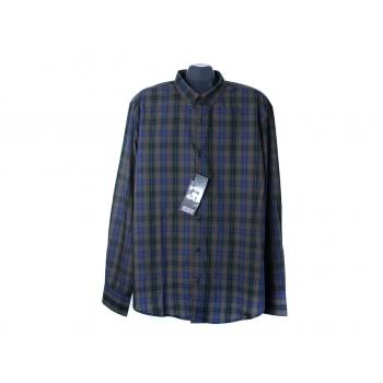 Рубашка в клетку мужская SLIM FIT SMOG, XL