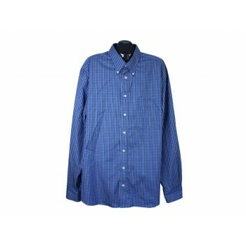Рубашка синяя клетку мужская EDDIE BAUER, 3XL