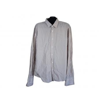 Рубашка в полоску под запонки мужская SLIM FIT HUGO BOSS, XL