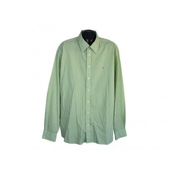 Рубашка мужская зеленая в клетку TOMMY HILFIGER, XXL