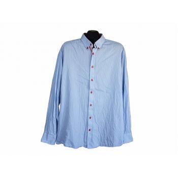 Рубашка голубая в полоску мужская JACKS, XL