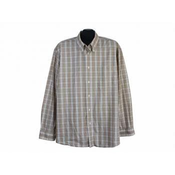 Рубашка бежевая в клетку мужская LUCIANO, XXL