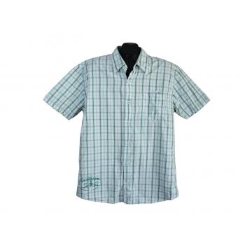 Рубашка мужская белая в зеленую в клетку S.OLIVER, L