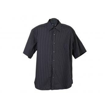 Рубашка мужская черная в полоску COMMANDER, XL