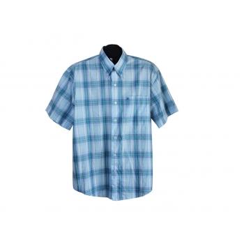 Рубашка мужская голубая в клетку BOWLING, XL