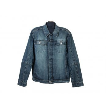 Мужская синяя джинсовая куртка CLOCKHOUSE, L