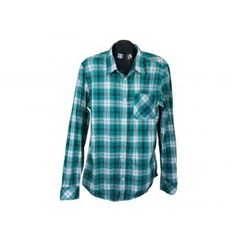 Рубашка мужская зеленая в клетку JEAN PASCALE, XL