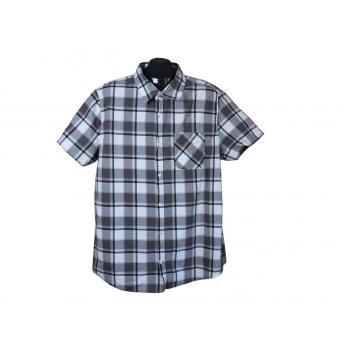 Рубашка мужская серая в клетку JEAN PASCALE, XL