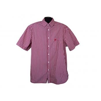 Рубашка мужская красная в полоску BLUE HARBOUR, XL