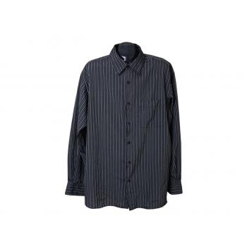Рубашка мужская черная в полоску ANGELO LITRICO, XXL
