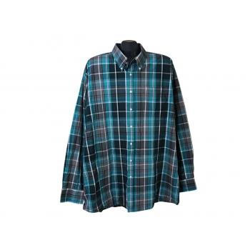 Рубашка мужская зеленая в клетку BEN GREEN, 4XL