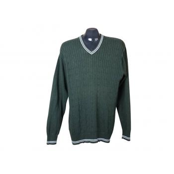 Пуловер мужской зеленый ANGELO LITRICO, L