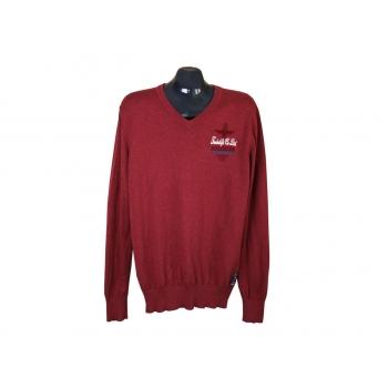 Пуловер мужской бордовый TWINLIFE, L