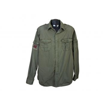Рубашка мужская хаки NAPAPIJRI, L