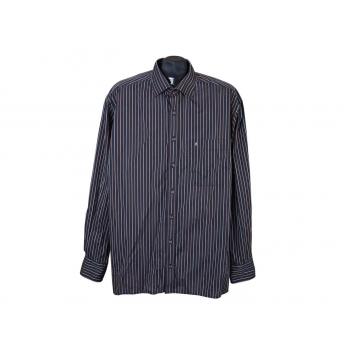 Рубашка черная в полоску мужская BLACK LINE EXCELLENT ETERNA, XL