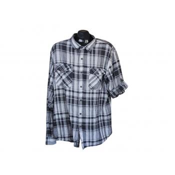 Рубашка льняная в клетку мужская CEDARWOOD STATE, XL