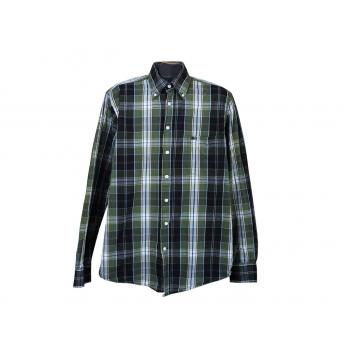 Рубашка зеленая в клетку мужская COMMANDER, L