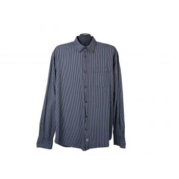 Рубашка серая в полоску мужская TOM TAILOR, XL