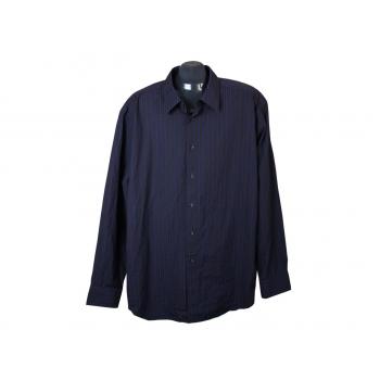 Рубашка в полоску синяя мужская COLLEZIONE MARKS & SPENSER, XL