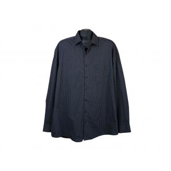 Рубашка серая в полоску мужская BEXLEYS MAN, XXL