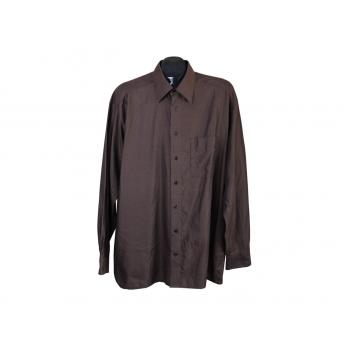 Рубашка коричневая мужская OLYMP TENDENZ, XL