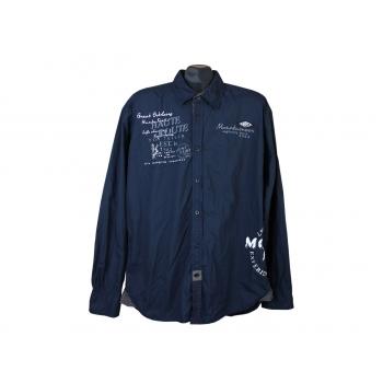 Рубашка синяя мужская HAUTE ROUTE TOM TAILOR, XL