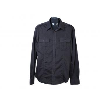 Рубашка черная мужская PREMIUM JACK & JONES, М