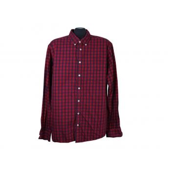 Рубашка красная в клетку мужская REDFORD, XL
