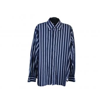 Рубашка синяя в полоску мужская JAKES, XXL