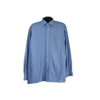 Рубашка голубая в полоску мужская BLACK LINE ETERNA, XXL