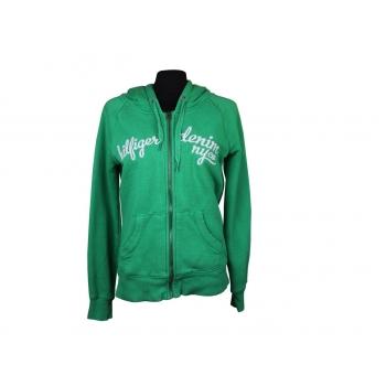 Толстовка женская зеленая с капюшоном TOMMY HILFIGER, М