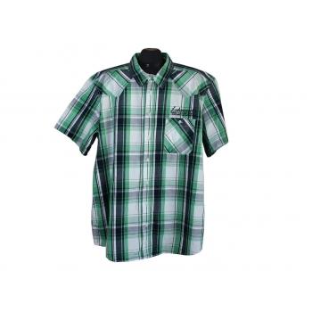 Рубашка мужская зеленая в клетку IDENTIC, XXL