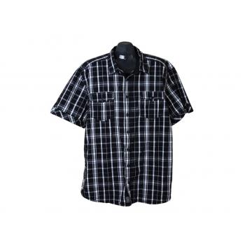 Рубашка мужская черная в клетку ANGELO LITRICO, 3XL