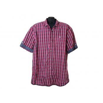 Рубашка мужская красная в клетку S.OLIVER, XL
