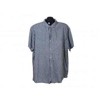 Рубашка из льна мужская в полоску BIAGGINI, XXL