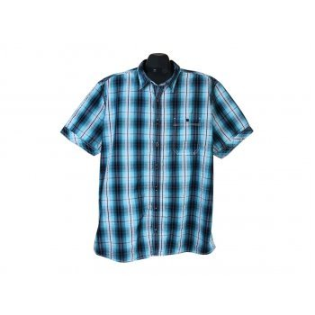 Рубашка мужская в клетку SLIM FIT ANGELO LITRICO, XL