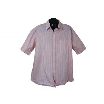 Рубашка мужская кремовая в полоску EASY TO IRON ANGELO LITRICO, XXL