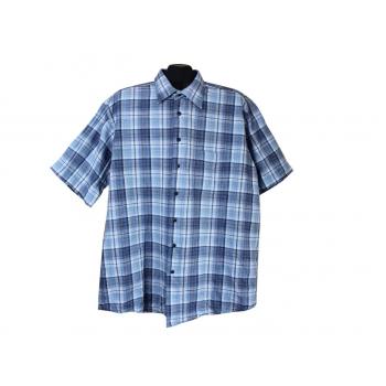 Рубашка мужская синяя в клетку CLUB D.AMINGO, XXL