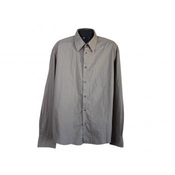 Рубашка серая мужская EASY IRON H&M, XL
