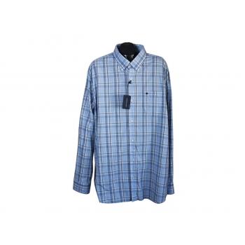 Рубашка мужская голубая в клетку STATE OF ART, 3XL
