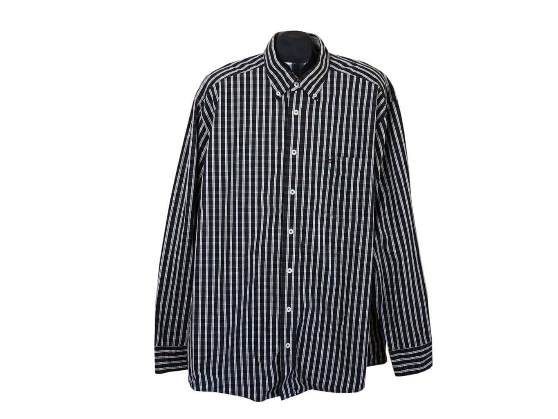09b908ac6bd Рубашка черная в клетку мужская CASA MODA