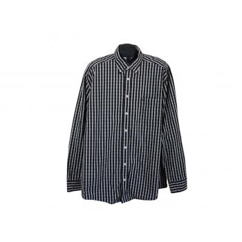 Рубашка черная в клетку мужская CASA MODA, XL