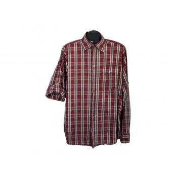 Рубашка бордовая в клетку мужская CAMEL ACTIVE, L